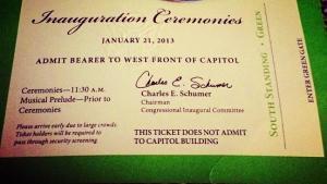 Inauguration invitation