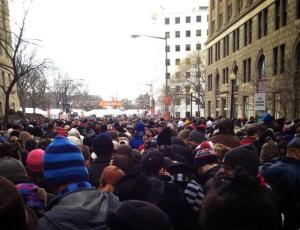 line at presidential inaug2013